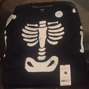 Glow in the dark Skeleton long sleeve shirt
